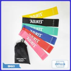 Bộ 6 dây kháng lực Mini Band đa năng AOLIKES SP053 T-Rex Shop – Dây cao su tập gym (phụ kiện gym, mini band, tập mông, tập chân, thể dục, thể hình, Yoga, Aerobic,Zumba Fitness)