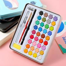 Bộ 36 Màu Nước Keep Smiling Cao Cấp Kèm Bút Nước, Bút Lông, Bút Chì, Gọt Chì, Miếng Mút