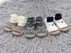 Giày bún dạng tất tập đi cao cổ cho bé đế cao su chống trượt phong cách Hàn Quốc Comfybaby GB002