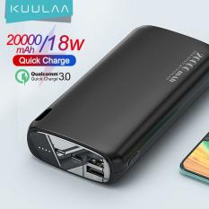 KUULAA pin sạc dự phòng dung lượng 20000mAH dùng cho điện thoại Xiaomi Mi iphone 12/12pro/12 mini iphone 11 pro max iphone 7 phus iphone 6 Oppo Samsung – INTL