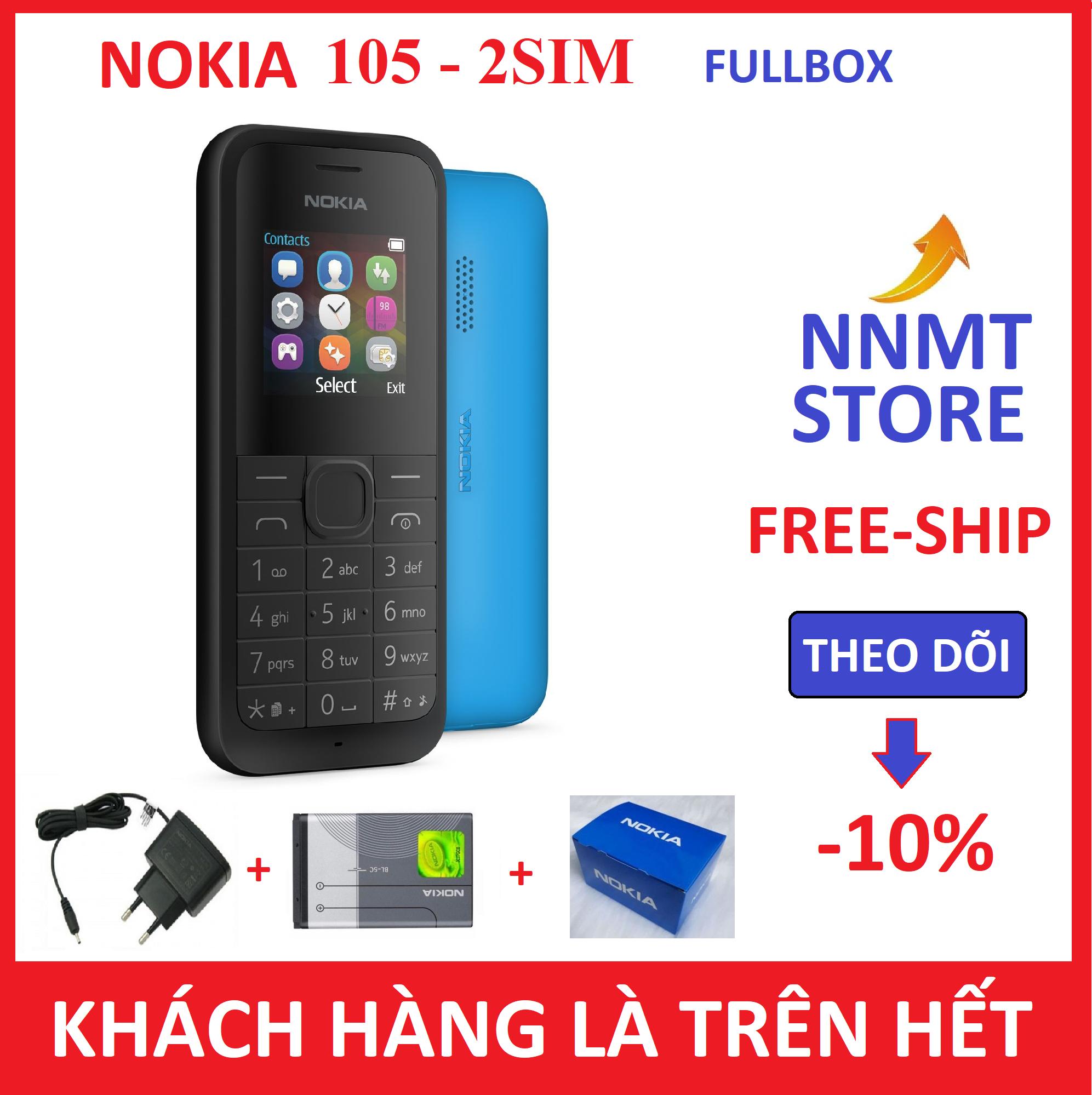 Điện thoại Nokia 105 giá rẻ (Máy, pin, sạc) – Siêu rẻ – Siêu bền – NNMT STORE