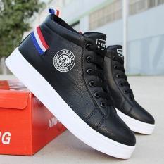 Giày nam cổ cao Fashion Sportt trắng gót 3 vạch cực chất sành diệu – MinhNhat