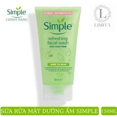 Sửa rửa mặt dạng gel simple (CHÍNH HÃNG) refreshing facial wash nhẹ nhàng lấy sạch bụi bẩn trên da, cho da cảm giác mịn màng lzd (150ml)