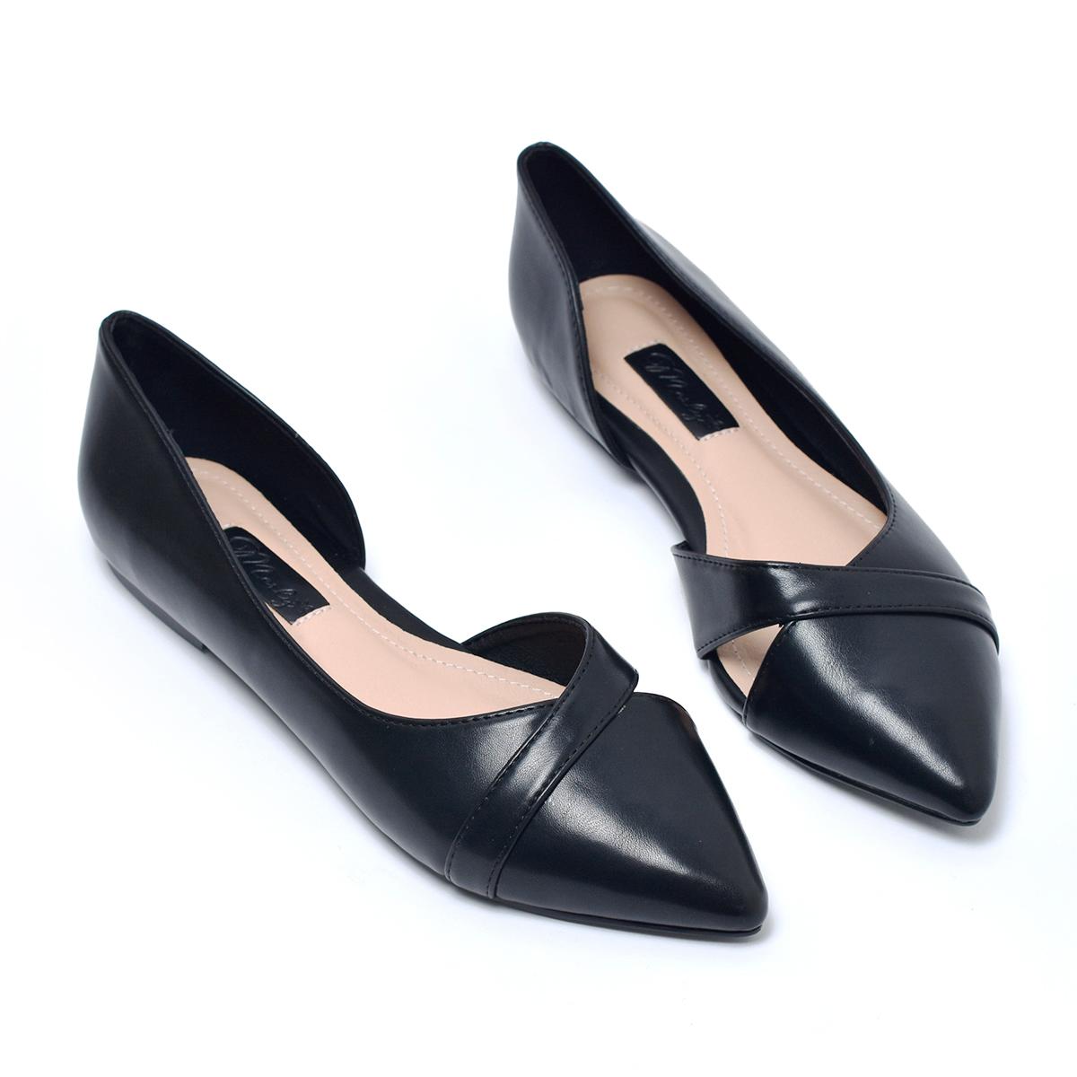 [Form lớn giảm 1 size] Giày búp bê hở eo Merly 1266