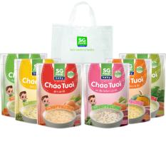 Lốc 6 Túi (69) – Cháo Tươi Baby SG Food 240g, Gà, Thịt Bằm, Bò, Tôm, Lươn, Cá Hồi (1500gr)