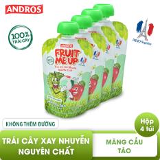 FRUIT ME UP – trái cây xay nhuyễn nguyên chất – mãng cầu táo – 90gx4, 100% trái cây xay nhuyễn nguyên chất