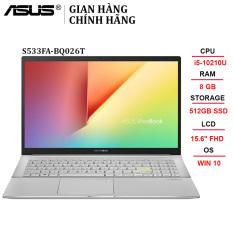 Laptop ASUS VivoBook S533FA-BQ026T i5-10210U | 8GB | 512GB | Intel UHD Graphics | 15.6″ FHD | Win 10 – Chính hãng