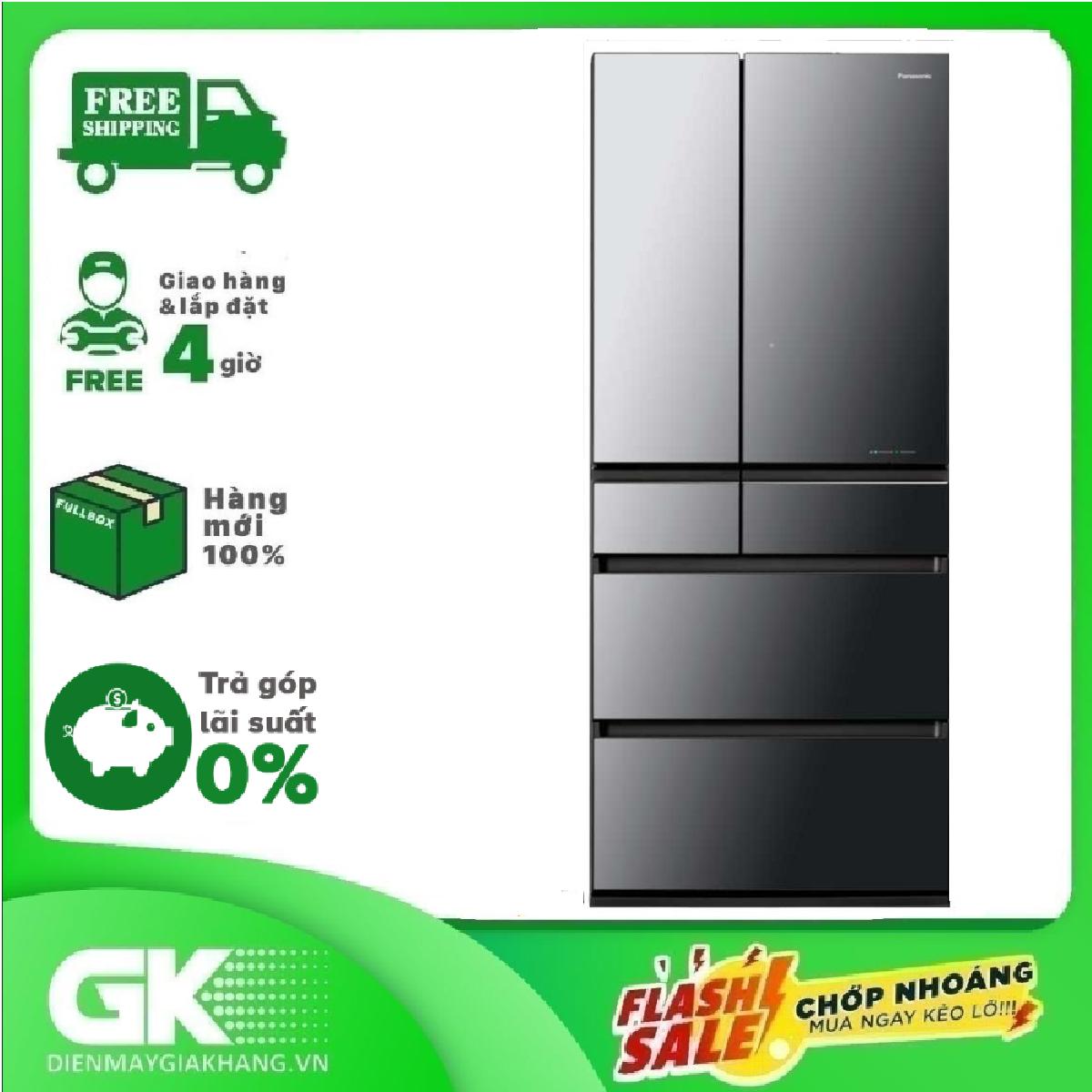 [Trả góp 0%]Tủ lạnh Panasonic Inverter 642 lít NR-F654GT-X2