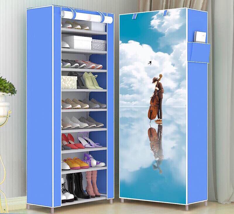 TỦ GIÀY DÉP 10 tầng 9 ngăn bọc vải cao cấp giá rẻ Kệ đa năng, giá để giày dép...