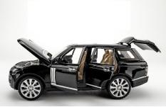 Xe mô hình tĩnh Land Rover tỉ lệ 1:24 khung thép sơn tĩnh điện màu Đen