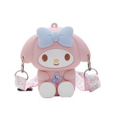 Túi đeo chéo mini Silicon hình HELLO KITTY dễ thương phong cách Hàn Quốc cho bé gái TX18