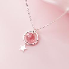 Dây Chuyền Bạc Nữ Đính Đá Hồng Ngọc | Dây Chuyền Bạc S925 Cao Cấp DB2481 Bảo Ngọc Jewelry