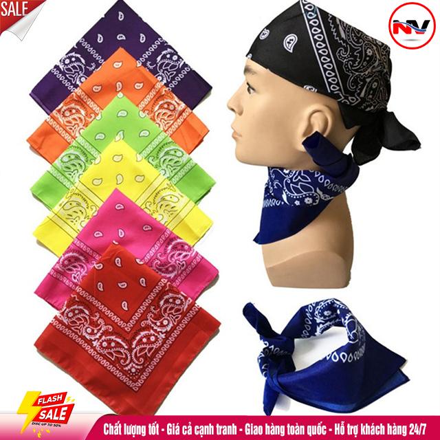 Khăn Turban Vuông Trùm Đầu Phong Cách Hip Hop (HOT)