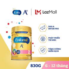 Sữa bột Enfamil A+ 2 cho trẻ từ 6-12 tháng tuổi (830g) – Cam kết HSD còn ít nhất 10 tháng