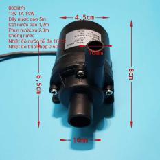 Bơm nước mini siêu mạnh 12V 800 LH không chổi than – brushless water pump