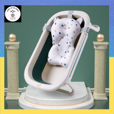 Chậu tắm gấp gọn cho bé sơ sinh loại lớn size đại thau tắm em bé giá rẻ kèm phao giữ nhiệt tiện lợi