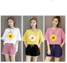Đồ bộ mặc nhà nữ in hình Bông Hoa Thời Trang Hàn Quốc