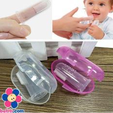 Rơ lưỡi vệ sinh răng sữa bằng silicon cho bé có hộp ( màu ngẫu nhiên)