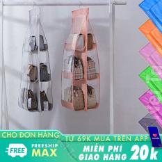 Túi treo giỏ xách đa năng 6 ngăn tiện lợi có móc treo tủ quần áo hoặc treo tường, bảo quản giỏ xách chống bụi, gọn gàng, tiết kiệm không gian ( Nhiều màu)