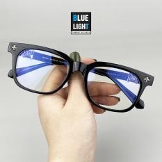 Kính Giả Cận, Gọng Kính Cận Nam Nữ Chrome Heart Mắt Vuông Nhỏ Viền Dày Cá Tính Đen Không Độ Hàn Quốc – BLUE LIGHT SHOP