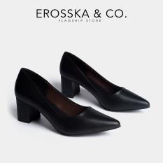 Giày cao gót Erosska mũi nhọn kiểu dáng cơ bản cao 5cm EP011 (BA)