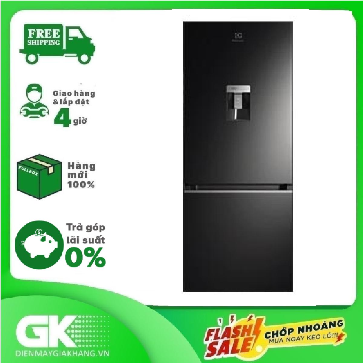 [Trả góp 0%]Tủ lạnh Electrolux Inverter 335 lít EBB3762K-H