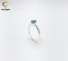 Nhẫn nữ trang sức bạc Ý 925 Huệ Ngân- Nhẫn ô cao 4 chấu xinh xắn YX005