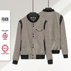 FEAER DENIM – Áo Khoác Nam Cargo Mix Leather Chất Vải bố Burlap có kèm spandex co giãn