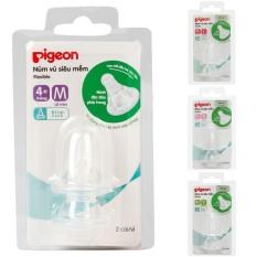 Núm vú cổ hẹp Pigeon siêu mềm vỉ 2 cái size S/M/L/Y chính hãng – BEEKIDS PLAZA
