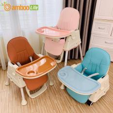 Ghế ăn dặm cho bé đa năng có thể gấp gọn, thay đổi độ cao Bambo Life BL08 tiện lợi dùng ở nhà, mang đi du lịch