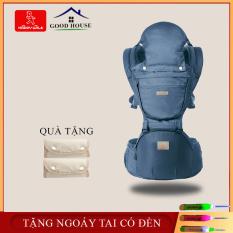 Địu em bé- Địu cho bé đa năng có bệ ngồi, mũ che nắng, túi đựng đồ an toàn tiện lợi cho mẹ và bé