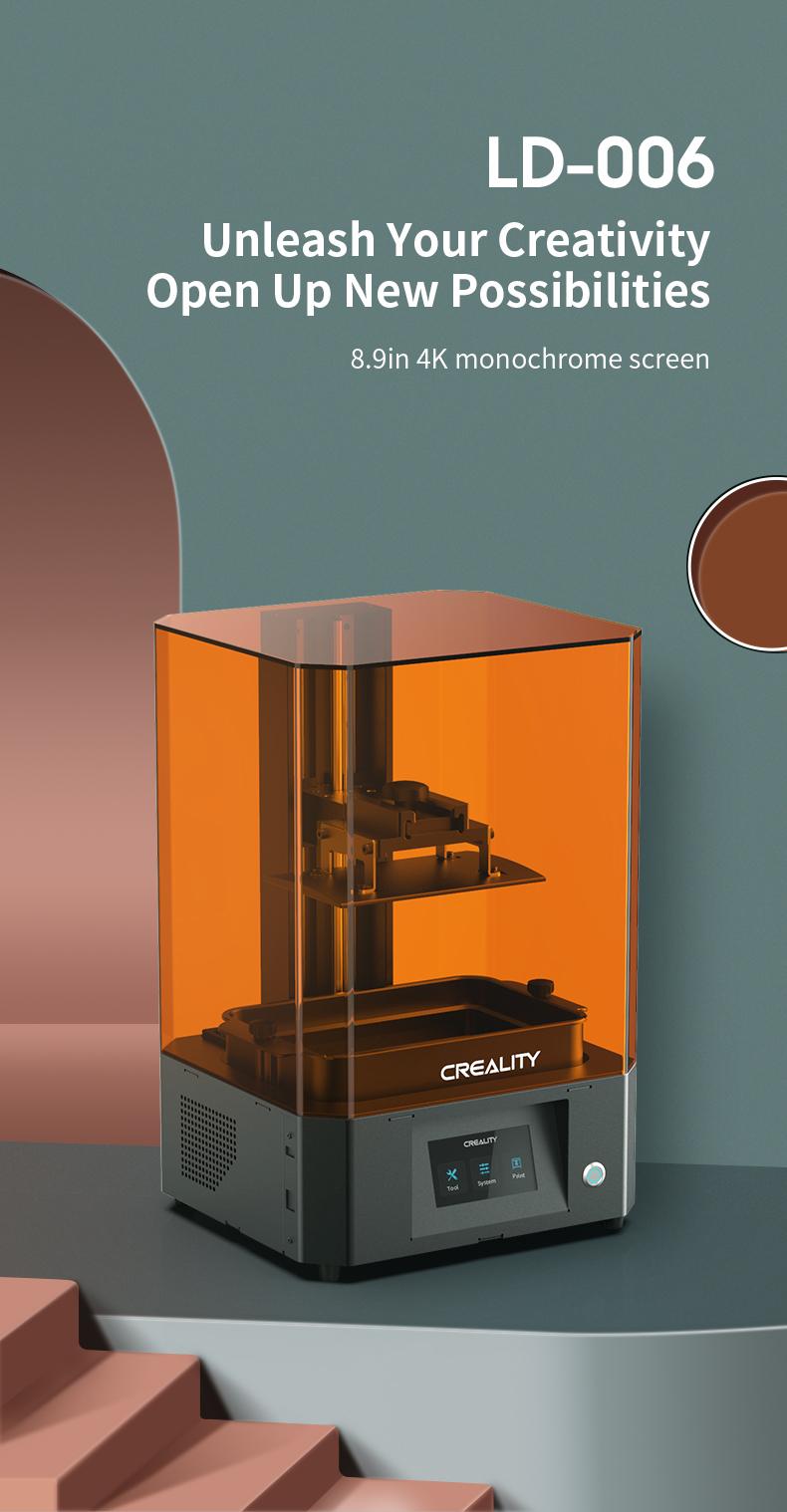 [Trả góp 0%]Máy in 3d ResinCreality LD-006 4K khổ in 192*120*250mm