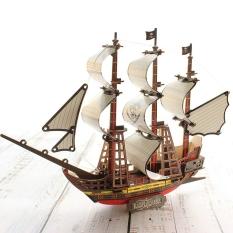 Đồ chơi gỗ lắp ráp 3D- Tàu Black Pearl- cắt Laser