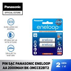 Pin sạc dự phòng NiMH Panasonic eneloop tiêu chuẩn AA 2,000mAh – BK-3MCCE2BT2 – Hãng chính hãng (Vỉ 2 viên)