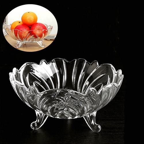 LAZDEAL – [DEAL] Dĩa đựng trái cây thủy tinh cao cấp 3 chân thiết kế sang trọng tao nhã phù hợp nhiều không gian