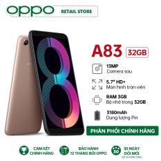 Điện Thoại OPPO A83 – Có tai nghe (3GB/32GB) – Hàng Chính Hãng – Màn hình 5.7 , Camera trước 8MP, Camera sau 13MP, Mediatek Helio P23 8 nhân, Pin 3180mAh, 2 Nano Sim hỗ trợ 4G