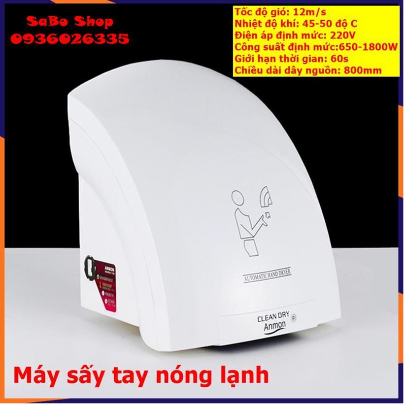 Máy sấy khô tay cảm ứng, hand dryer machine, máy sấy tay 2 chiều nóng lạnh, công suất cao, dùng...