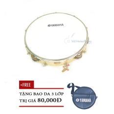 Trống lắc tay – trống gõ bo – Tambourine Yamaha Vành Gỗ + Bao da 3 lớp – Việt Hoàng Phong