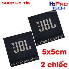 Đôi Tem loa JBL entertainment kim loại kích thước 5x5cm ( 2 tem loa )