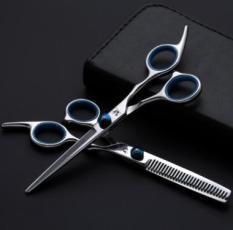 Bộ 2 Kéo cắt và tỉa tóc SASSOON chuyên dụng (tai xanh)