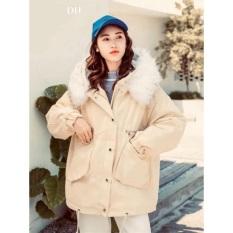 [ Hàng Cao Cấp ] Áo Khoác Nữ Kaki Lông Mũ Dáng Dài Nhiều Màu, Áo Khoác Form Rông Phong Cách Hàn Quốc