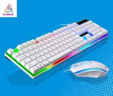 Combo bàn phím và chuột giả cơ G21 Bộ bàn phím giả cơ và chuột game dành cho game thủ G21 led đa màu