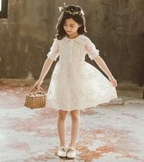 Váy công chúa ren trắng cho bé gái Sophia V27