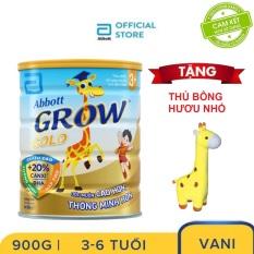 Sữa bột Abbott Grow 3+ 900g Tặng Hươu bông nhỏ