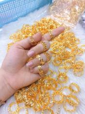 Nhẫn nữ vàng 18k kim tiền Gadoshop VN24041905- đeo đi tiệc đi chơi làm công sở cực sang chảnh và quý phái