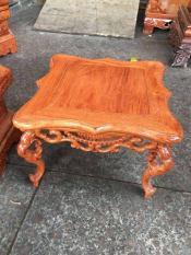 Bàn vuông 30×30 cao 20cm, gỗ hương, chân chạm rồng,