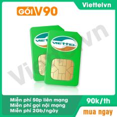 Sim 4G 10 số Viettel V90 (60Gb + 4350 phút gọi miễn phí / tháng) viettelvn.
