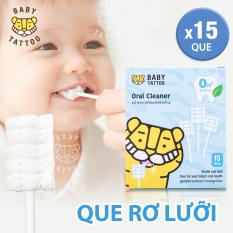Que rơ làm sạch lưỡi, nướu khoang miệng cho bé BABY TATTOO