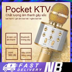 Mic Hát Karaoke Bluetooth Không Dây WS858 Kèm loa Âm vang Ấm mic hát karaoke cầm tay mini micro hát trên xe hơi mic hát karaoke hay nhất hiện nay