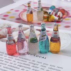[Lấy mã giảm thêm 30%]Charm Slime Mô hình set 05 chai nước ngọt hạt chia HPMCharm